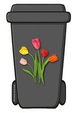 Containerstickers Hollandse tulpen
