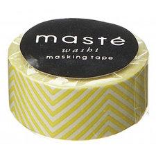 Masking tape Masté gele zigzag