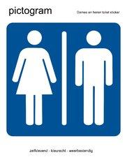 Pictogram sticker Dames en heren toilet (10x10cm)