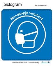 Pictogram sticker Mondkapje verplicht (10x10cm)
