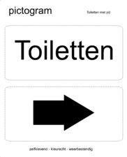 Pictogram sticker Toiletten (10x10cm)