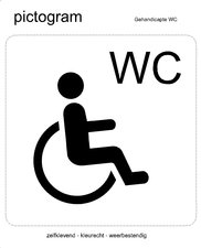 Pictogram sticker Invaliden toilet (10x10cm)