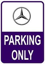 Sticker parking only Mercedes