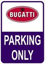 Sticker parking only Bugatti