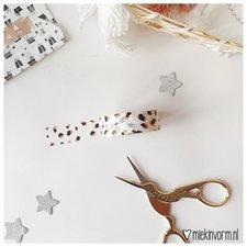 MIEKinvorm Masking tape vlekjes roest op wit