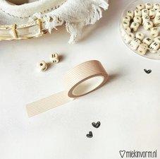 MIEKinvorm Masking tape horizontale streep