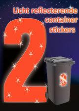 Containersticker huisnummersticker fluor oranje 16,5cm
