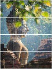 Foto tegelsticker 20x15 'Boeddha in de natuur' 80x60 cm hxb