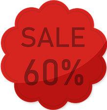 Etalage raamsticker Rood 60%