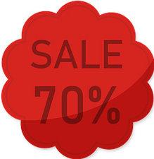 Etalage raamsticker Rood 70%