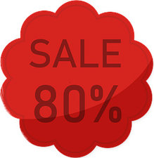 Etalage raamsticker Rood 80%