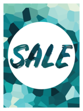 Etalage raamsticker Winter sale