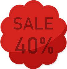 Etalage raamsticker Rood 40%