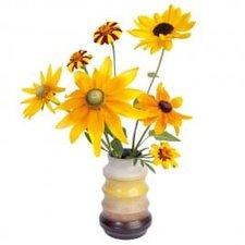 Raamsticker flat flowers zonnebloemen