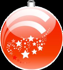 Kerst sticker - Kerstbal