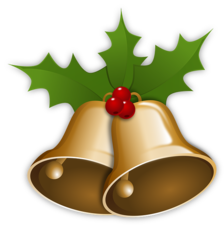 Kerst sticker - Kerst klokken