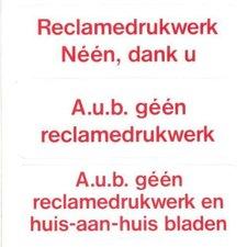 Pickup sticker GEEN reclamedrukwerk