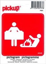 Pictogram sticker Brand blusdeken