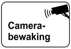 Sticker Camera bewaking