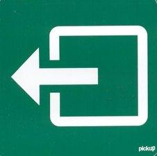 Pictogram sticker Nooduitgang