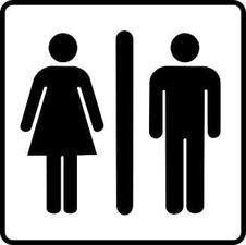 Sticker heren- / damestoilet