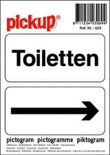 Pictogram sticker Toiletten