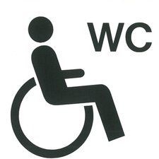 Pictogram sticker Invaliden toilet