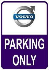 Sticker parking only Volvo