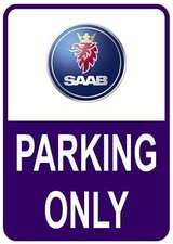 Sticker parking only Saab