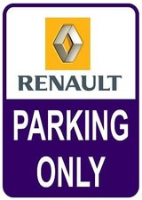 Sticker parking only Renault