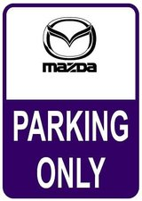 Sticker parking only Mazda
