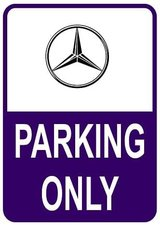 Sticker parking only Mercedes