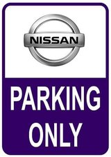 Sticker parking only Nissan