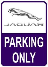 Sticker parking only Jaguar