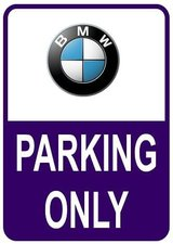 Sticker parking only BMW