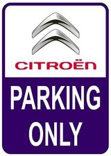 Sticker parking only Citroën