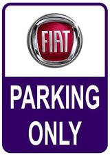 Sticker parking only Fiat