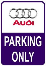 Sticker parking only Audi