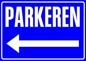 Sticker Parkeren (links)