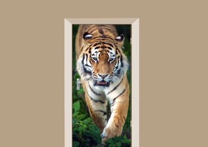 Deursticker Siberische tijger