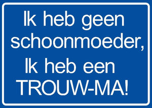 Sticker 'trouw-ma'