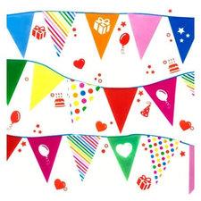 Raamstickers Party vlaggetjes slinger