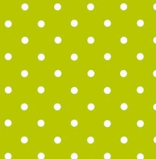 Plakfolie groen met witte stippen