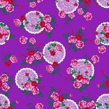 Plakfolie funky flower paars
