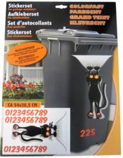 Container stickers zwarte kat
