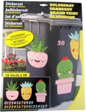 Container stickers cactus