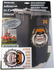 Container stickers bulldog met koptelefoon