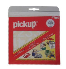 Plakcijfer stickers wit Pick-up 30 mm