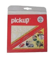 Plakcijfer stickers wit Pick-up 20 mm