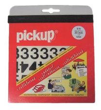 Plakcijfer stickers zwart Pick-up 20 mm